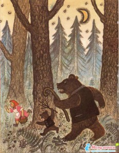 Девочка открыла глаза, увидела медведей и бросилась к окну