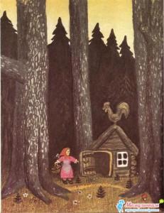 Маша вошла в лесной домик
