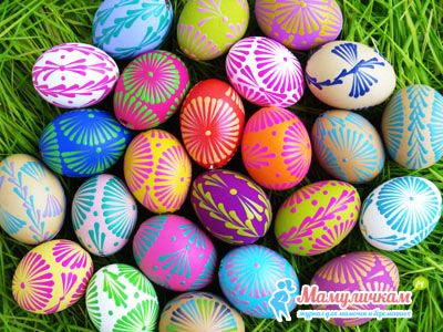 Фото готовых красивых яиц на Пасху