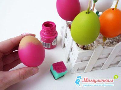 Окрашиваем яйца акриловой краской