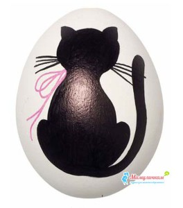 Фото разрисованного яйца фломастерами