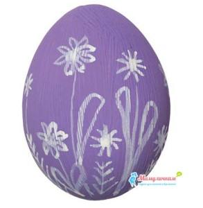Фото яйца разрисованного мелками