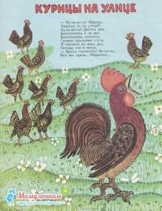 Картинка Курицы на улице
