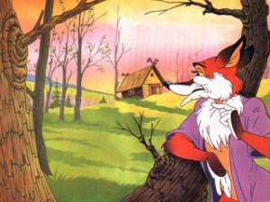 Лиса дразнит зайца