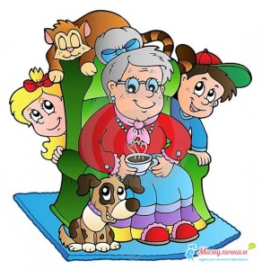 Детские стихи про бабушку картинка